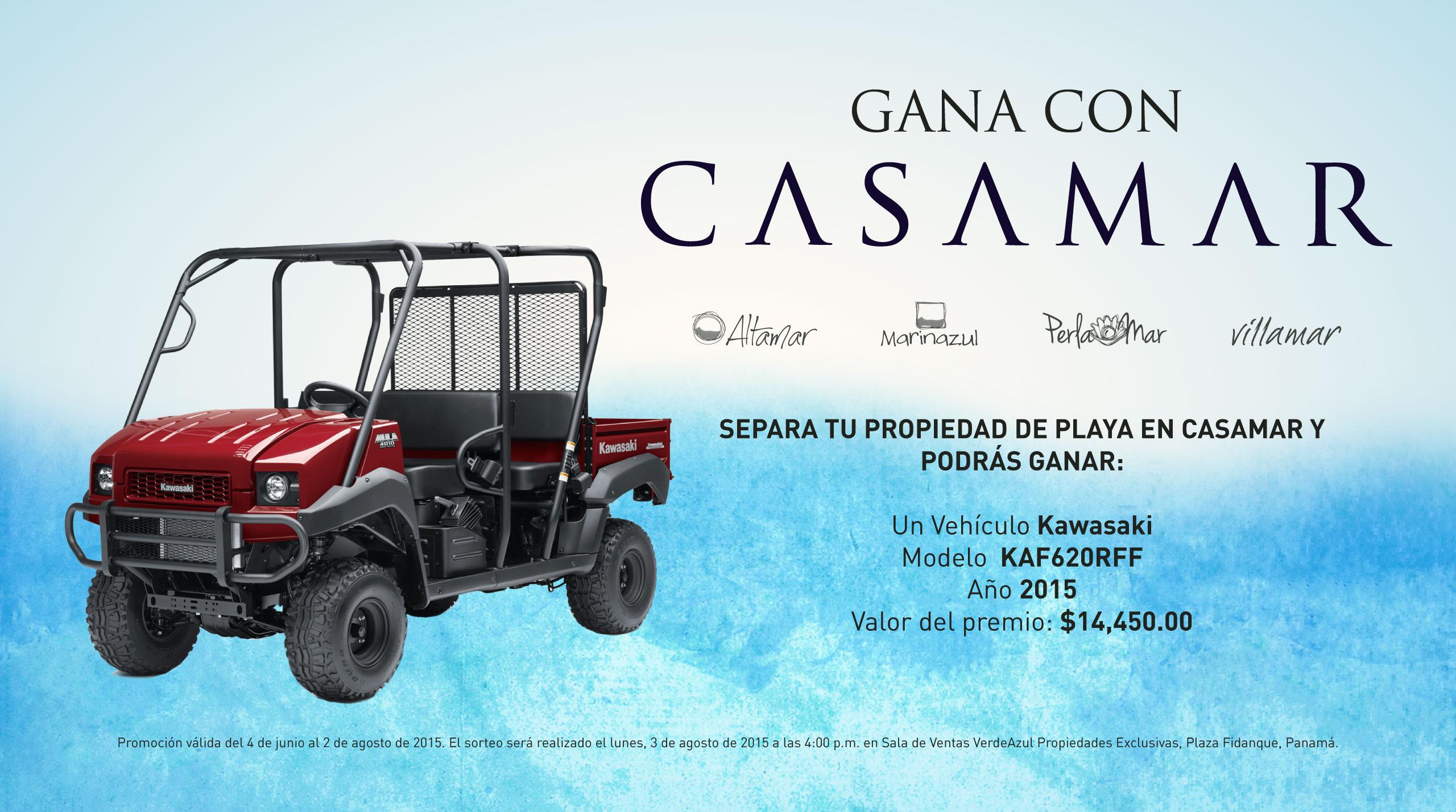 Promoción Casamar, Gánate una mulita Kawasaki